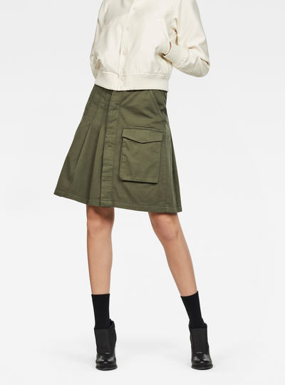 Tendric High waist Pleated Skirt