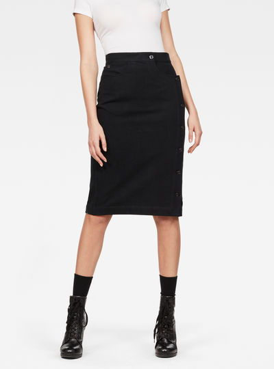 Deconstructed D-Staq Ultra High-Waist Skirt