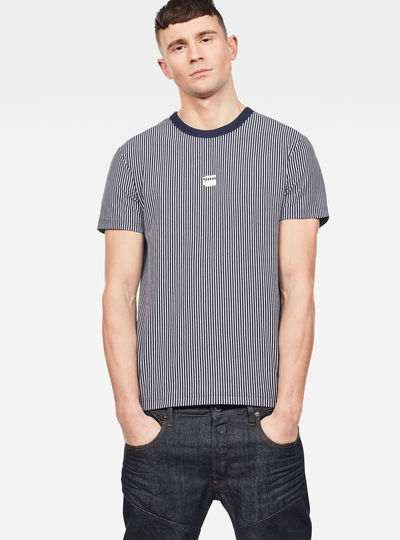 Raw Correct Coly Stripe Patterned T-Shirt