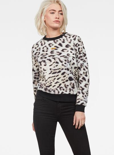 Leopard Cropped Sweater