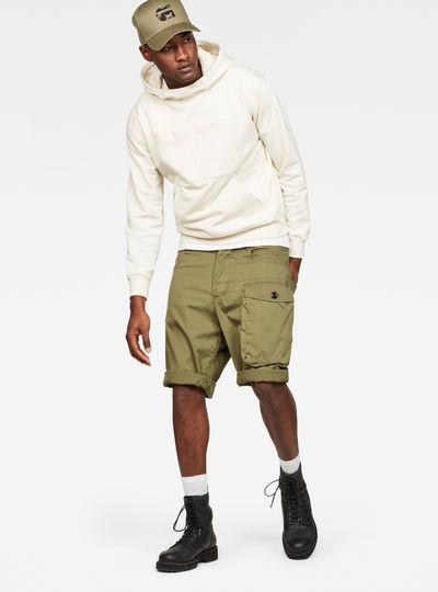 Tendric Deconstructed Loose 1/2-Length Shorts