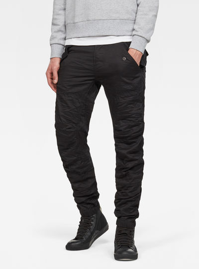 Rovic Deconstructed Tapered Cuffed Jeans