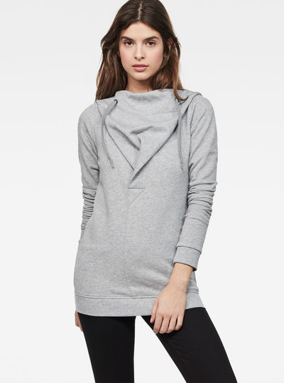 Xarin slim drapy hooded sweat