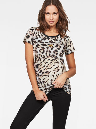 Leopard Straight T-Shirt