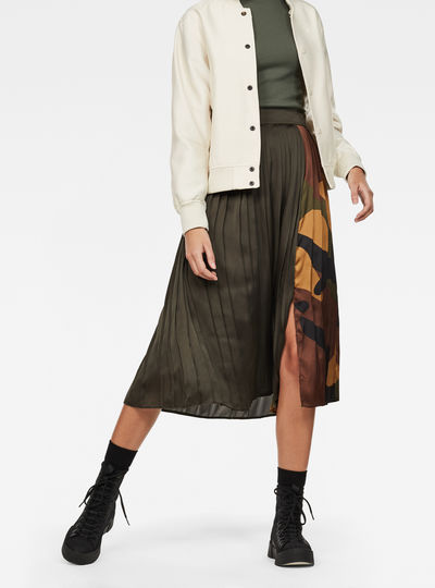 G-Star High waist Plisse Skirt