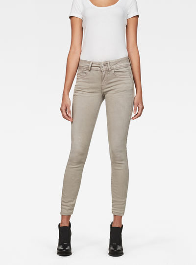 Lynn D-Mid waist Super Skinny Ankle-Cut Color Jeans