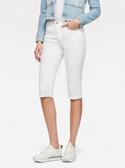 D-Staq 5-Pocket Ripped High Waist waist Capri