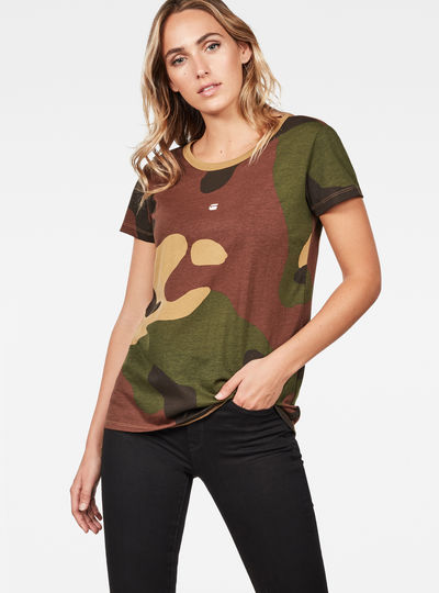 Oversized  Dutch Camo Straight T-Shirt
