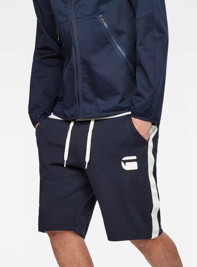 Core Stripe Loose Sweatshorts