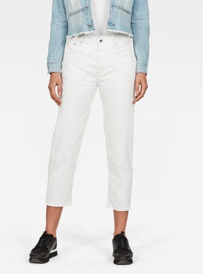 3301 Mid waist Boyfriend Ripped 7/8-Length Jeans