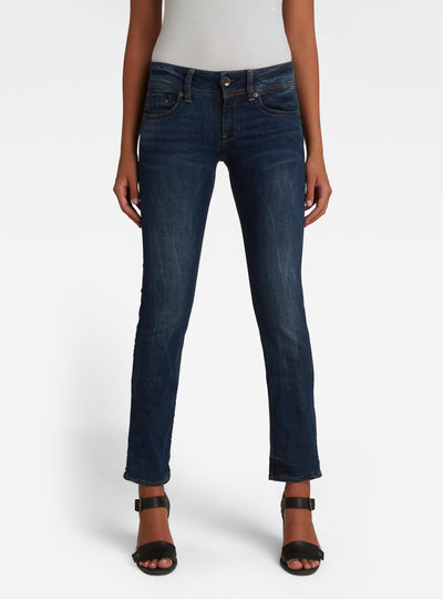 Midge Saddle Mid Waist Straight Jeans