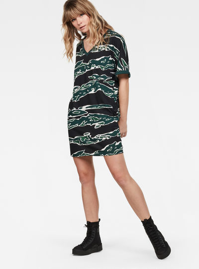 Joosa Pattern V-Neck Dress