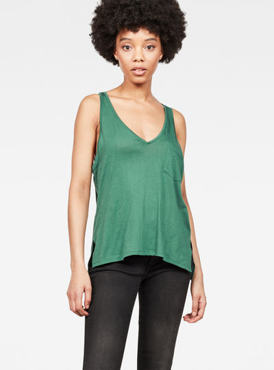 Dyv Pocket Straight Deep V-Neck Singlet
