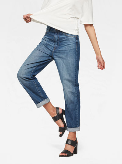 Midge Deconstructed High Waist Boyfriend Jeans