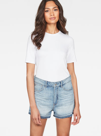 Arc High waist Boyfriend Ripped Shorts