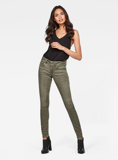 Lynn Mid waist Skinny Color Jeans