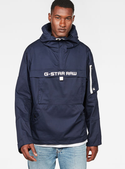 Rackam Deconstructed Hooded Anorak Jacket