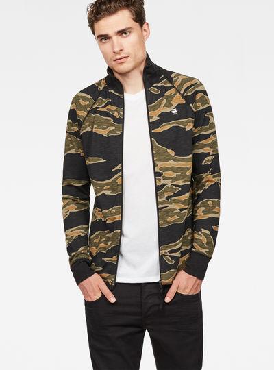 Jirgi Tiger Pattern Zip T-Shirt