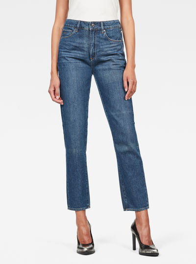 3301 High waist Straight 90s Ankle-Cut Jeans