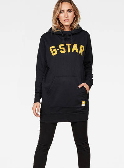 Halgen Reffit Boyfriend Hooded Sweat Dress