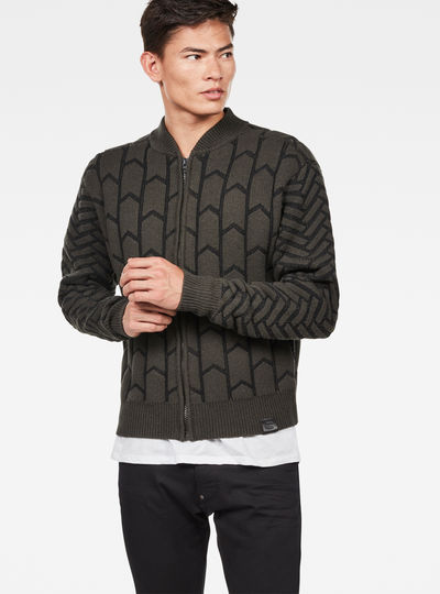 Biker Zip Through Knit