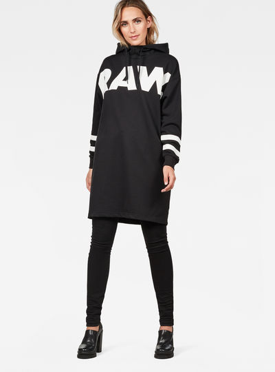 Scolla Oversized Hooded Sweat Dress