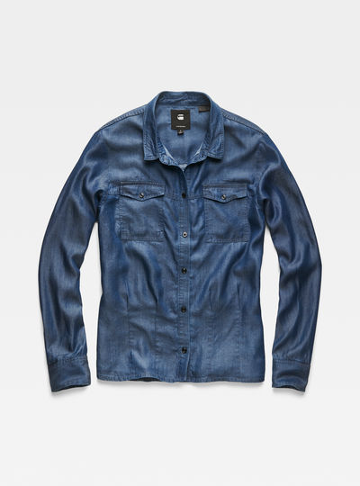 Rovic Pleated Denim Shirt