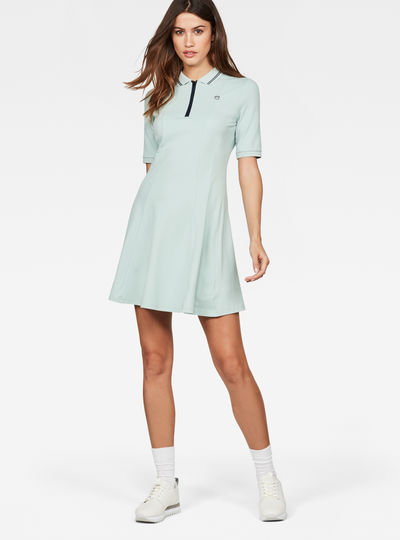Raw Correct Polo 1/2-Sleeve Flare Dress