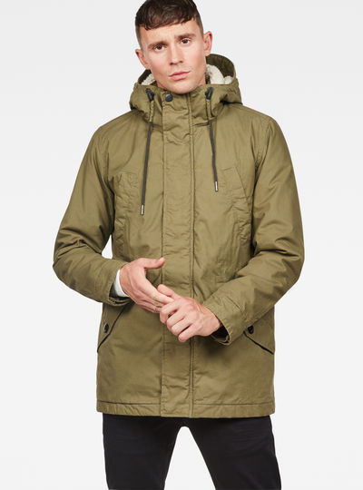 Vodan Padded Hooded Teddy Parka