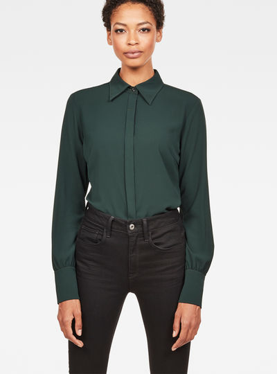 Core Slim Puff Cuff Shirt