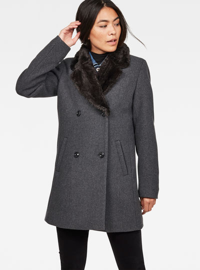 Minor Faux Fur Wool Coat