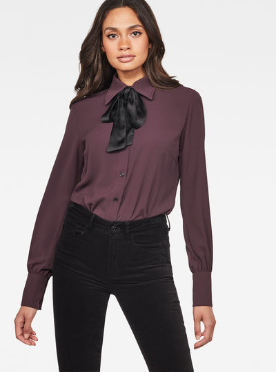 Core Slim Bow Blouse