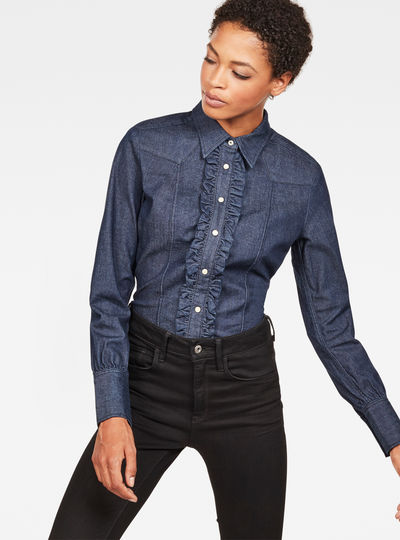 Tacoma Clean Slim Frill Shirt