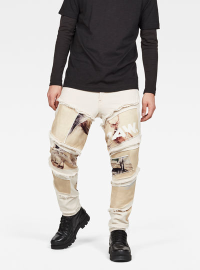 Spiraq RFTP Patches Earth 3D Slim Jeans