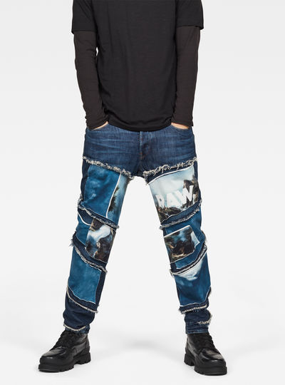 Spiraq RFTP Patches Water 3D Slim Jeans