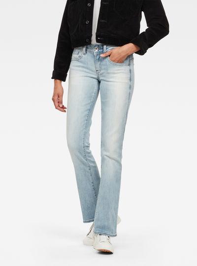 Midge Saddle Mid Waist Skinny Bootcut Jeans