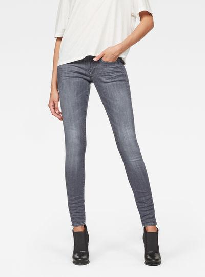 Lynn D-Mid-Waist Super Skinny Jeans