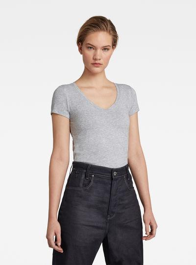 Base V-Neck Cap Sleeve T-Shirt