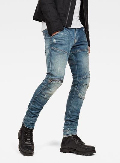 5620 3D Zip Knee Ripped Skinny