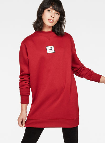 Bilbi Box Logo Funnel Sweat Dress