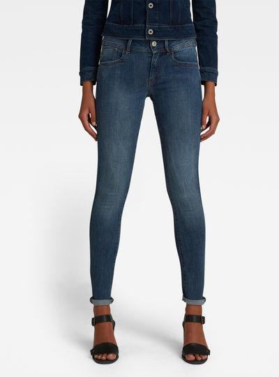 Lynn D-Mid Waist Super Skinny Jeans