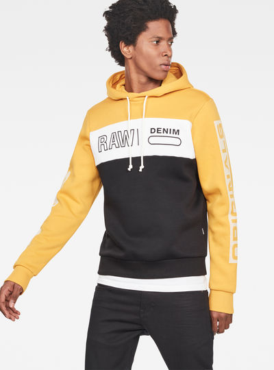 Swando Block Graphic Hooded Sweat