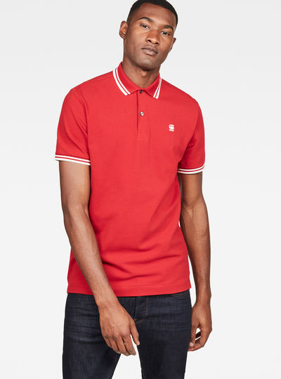 Dunda slim stripe polo s\s