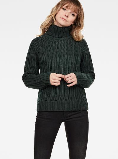 Ave turtle knit wmn l\s