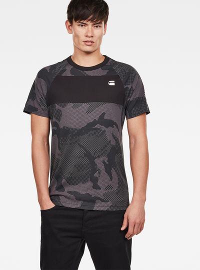 Satur Camo Raglan T-Shirt
