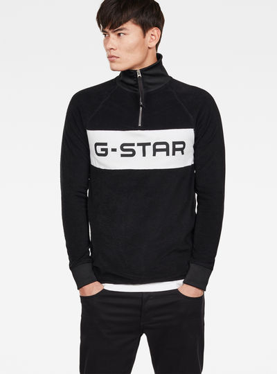 Jirgi-s Half Zip Logo Sweat