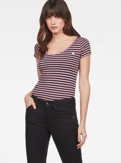 Base Stripe Slim T-Shirt