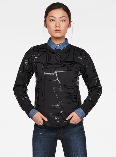 Line Art Allover Xzyph Sweater