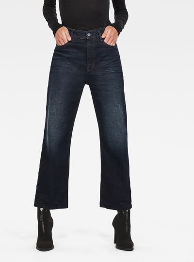 Tedie Ultra High Straight RP Ankle Jeans