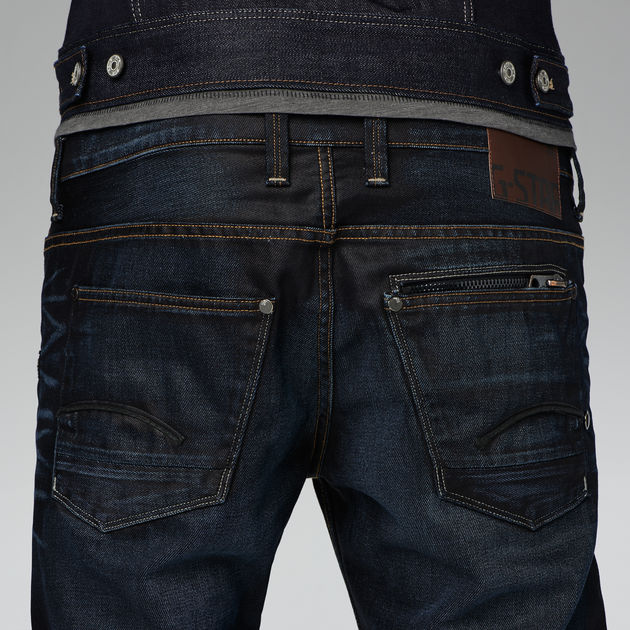 attacc low straight jeans indigo aged men sale g star raw. Black Bedroom Furniture Sets. Home Design Ideas